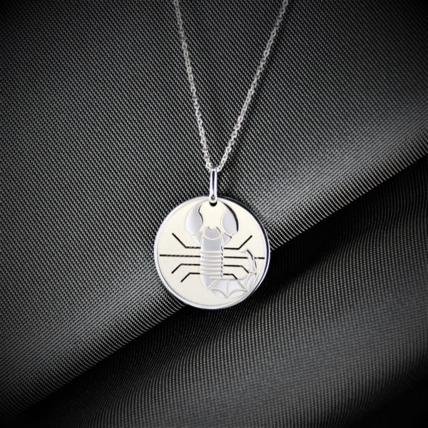 pendentif scorpion argent